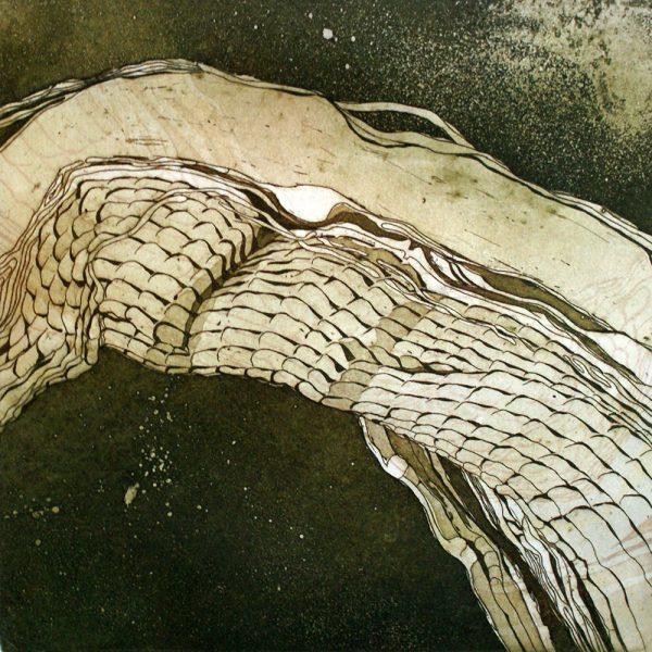 Selbstheilung, 20 x 20 cm, Radierung, 2007