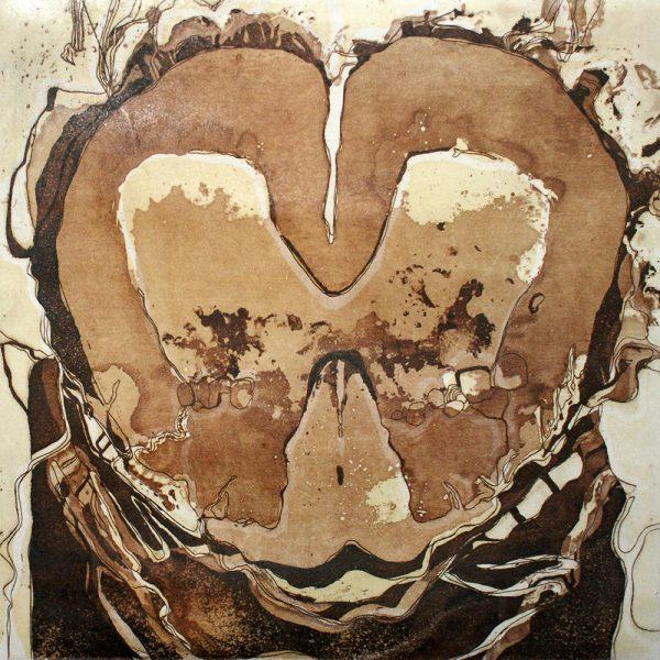 Abstammungslinie, 20 x 20 cm, Radierung, Linolschnitt, 2007