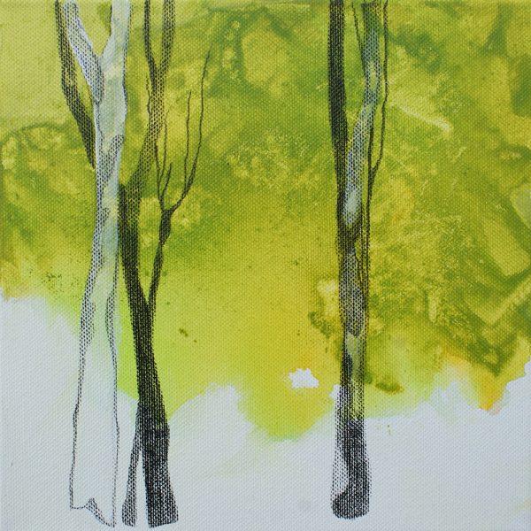 Sehnsucht, 20 x 20 cm, Mischtechnik, 2010