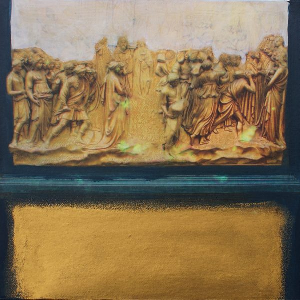 Ghiberti und das Paradies, 20 x 20 cm, Mischtechnik, 2010