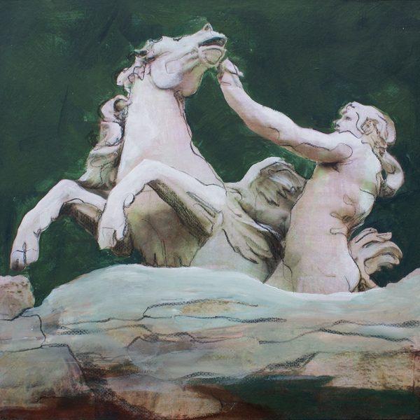 Signore Bernini, 20 x 20 cm, Mischtechnik, 2010