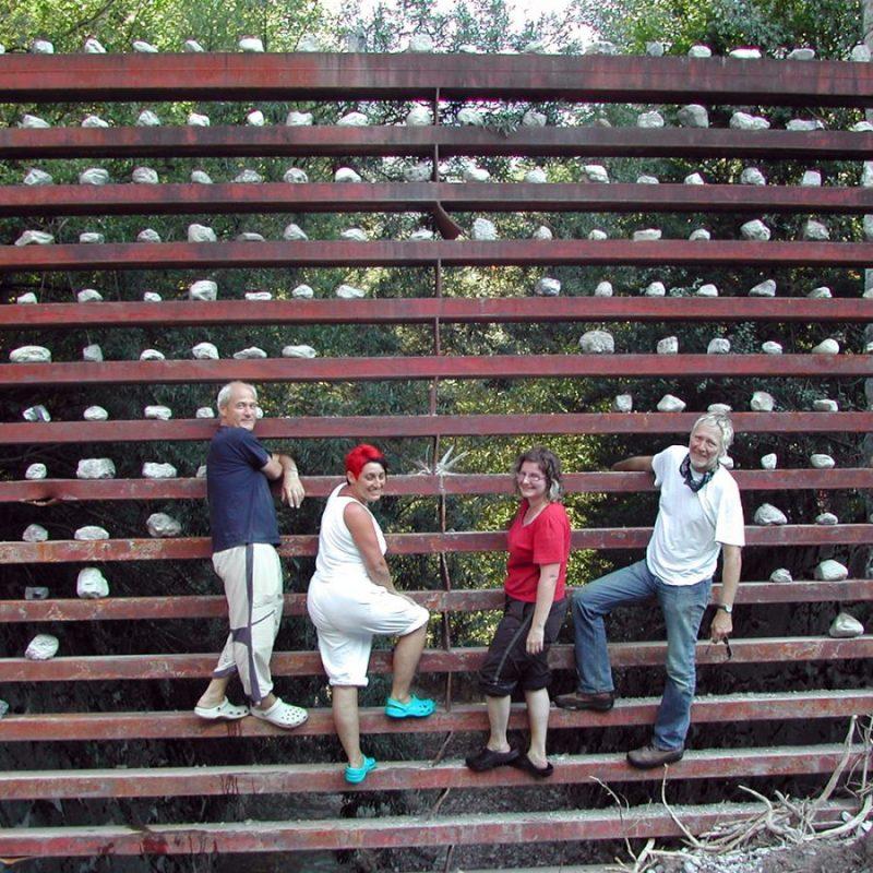 Das Team: Heinrich und Marika Wille-Jais, Lisa Krabichler, Peppi Spiss