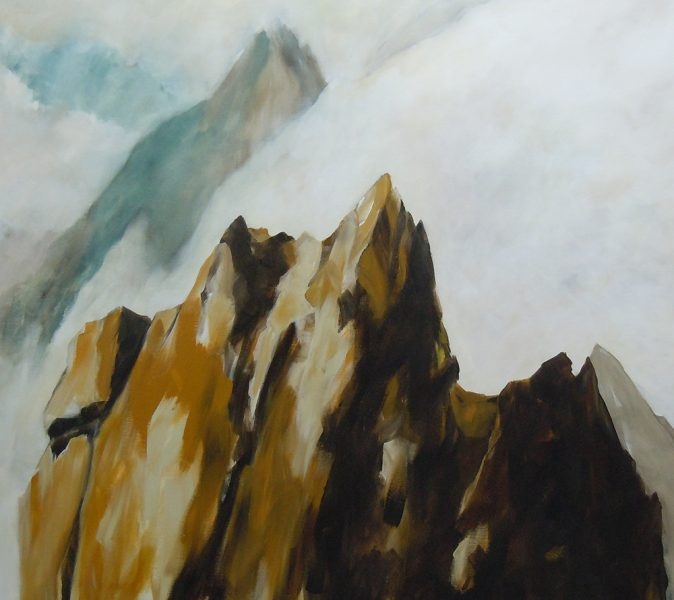 Aufragend, 100 x 110 cm, Acryl auf Leinen, 2017