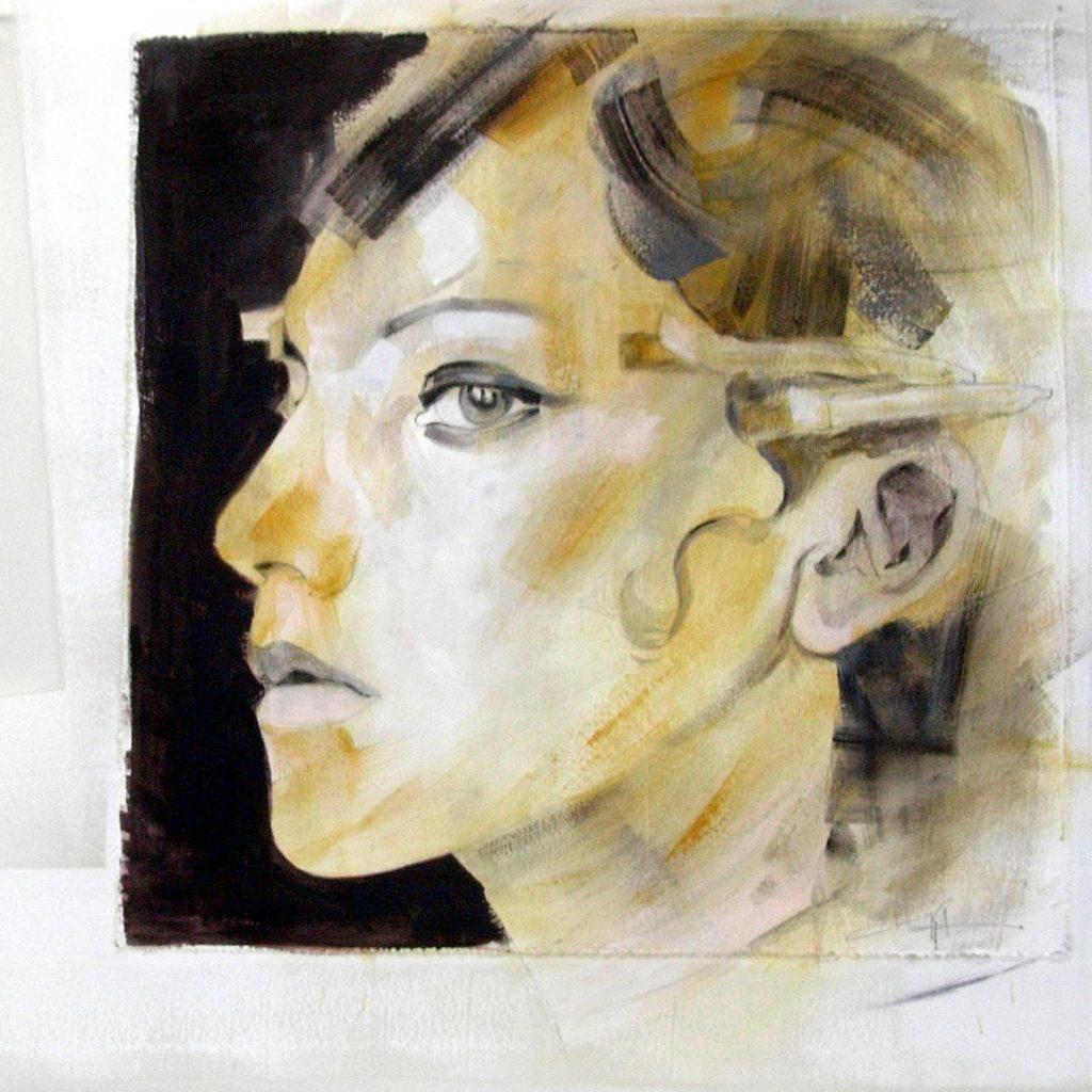 Once upon a time in Amerika, 60 x 60 cm, Mischtechnik auf Plexiglas, 2005