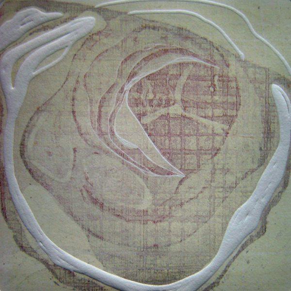 Breath 2, 20 x 20 cm, Radierung, Linolprägung, 2007