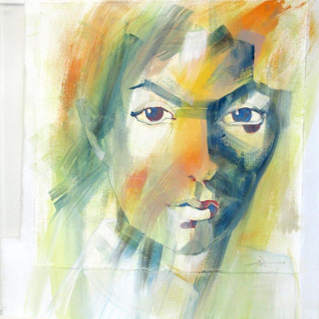 Finnland oder die Zerbrechlichkeit, 60 x 60 cm, Mischtechnik auf Plexiglas, 2005