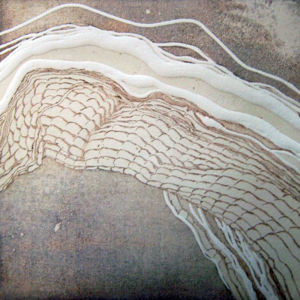 Selbstheilung 2, 20 x 20 cm, Radierung, Linolprägung, 2007