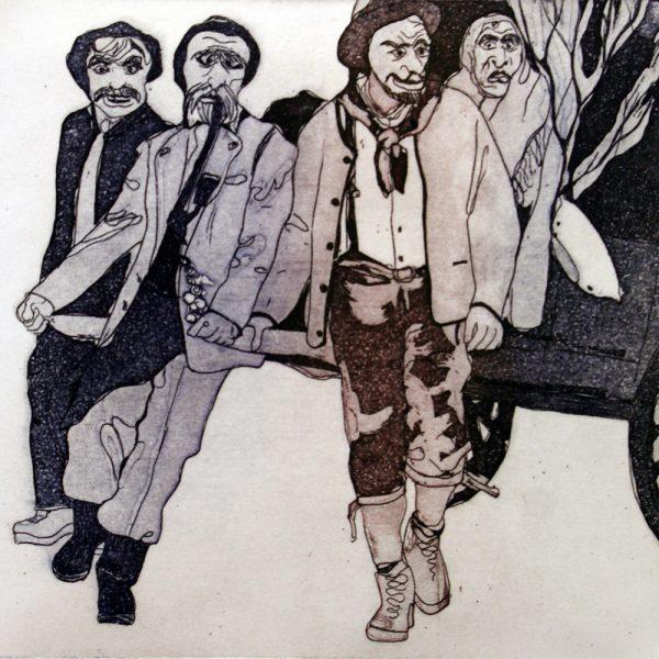 Fasnacht Nassereith, Karner, 10 x 10 cm, Radierung, AL6, 2008