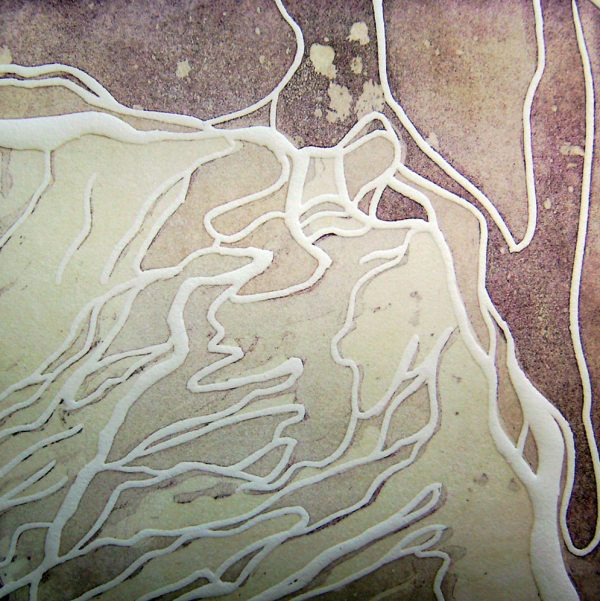 Insular/Tag, 20 x 20 cm, Radierung, Linolprägung, 2007
