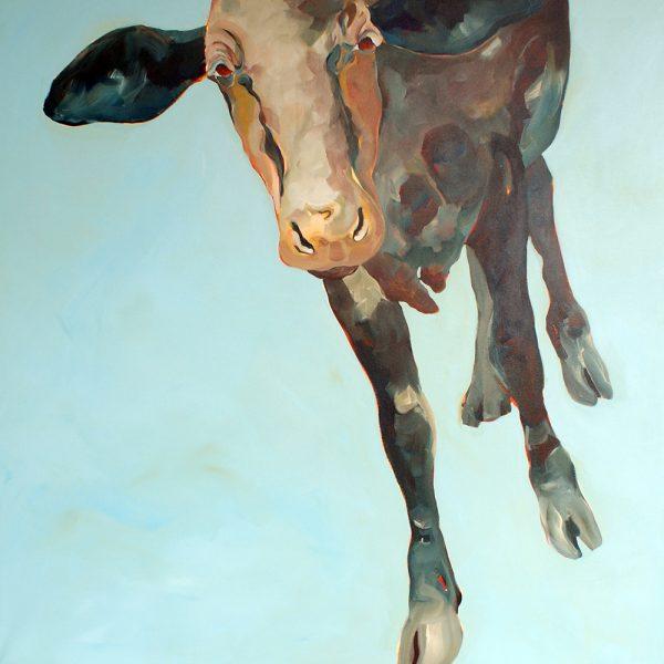 Mooncow, 110 x 110 cm, Acryl auf Leinen, 2009