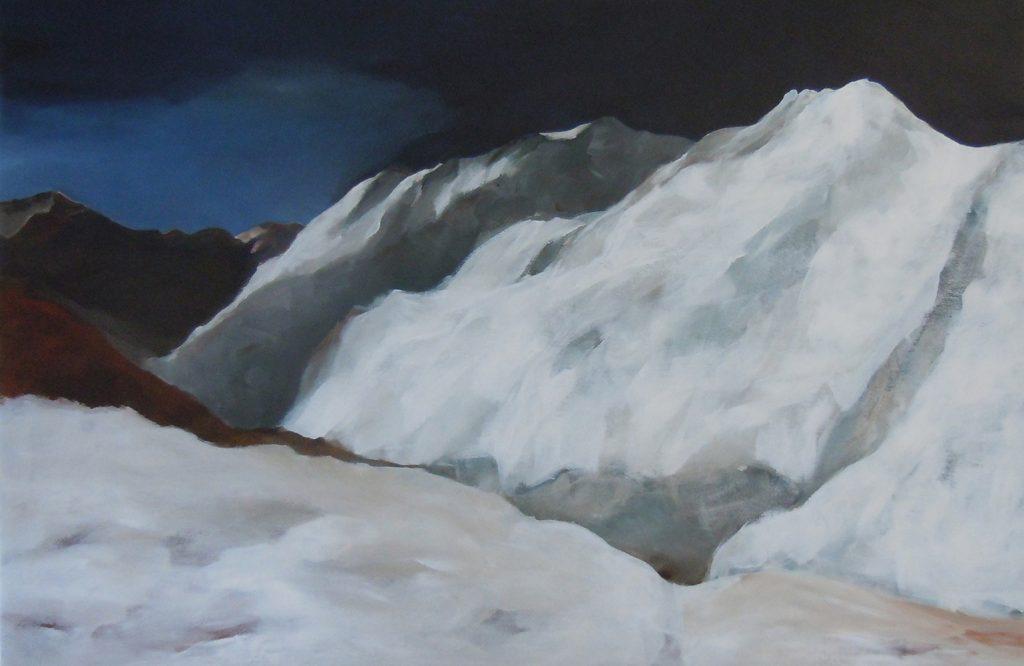 Moostal, 80 x 120 cm, Acryl auf Leinen, 2016