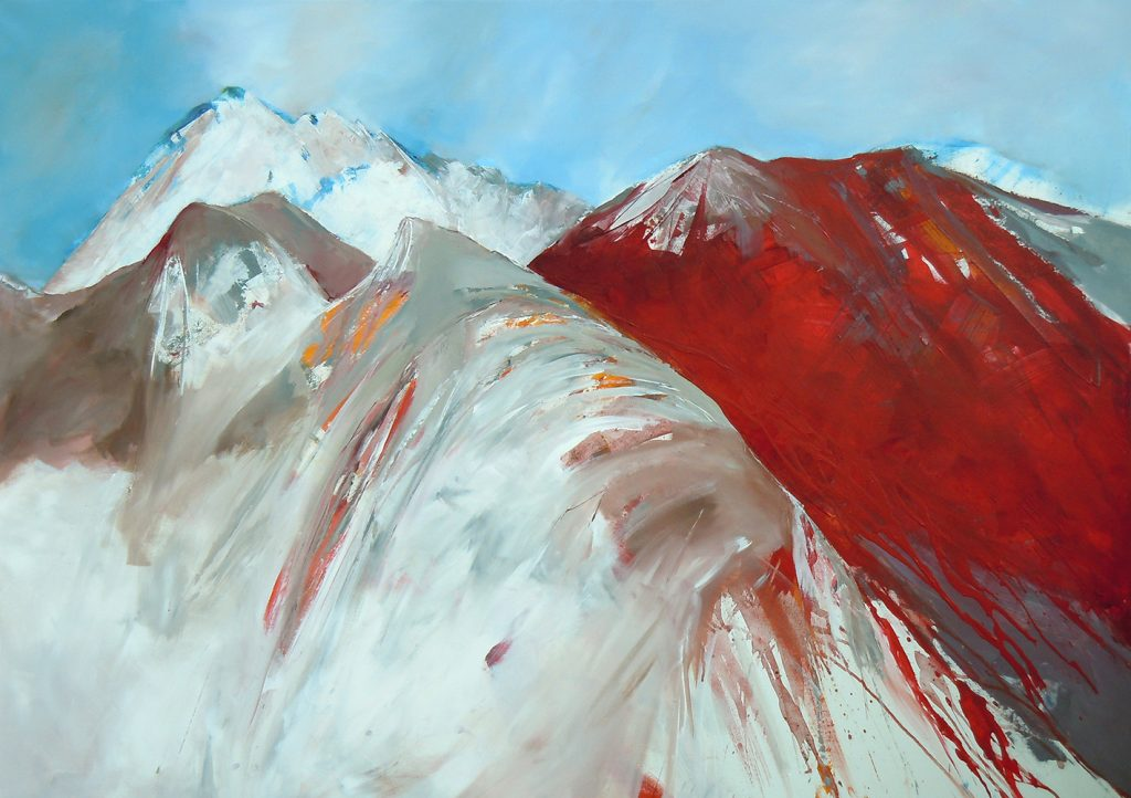 Rote Kraft 2, 100 x 140 cm, Acryl auf Leinen, 2014