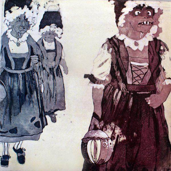 Fasnacht Nassereith, Sackner, 20 x 20 cm, Radierung, AL6, 2008