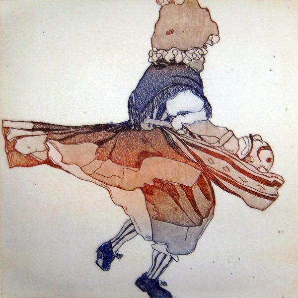 Fasnacht Nassereith, Sackner, 10 x 10 cm, Radierung, AL6, 2008
