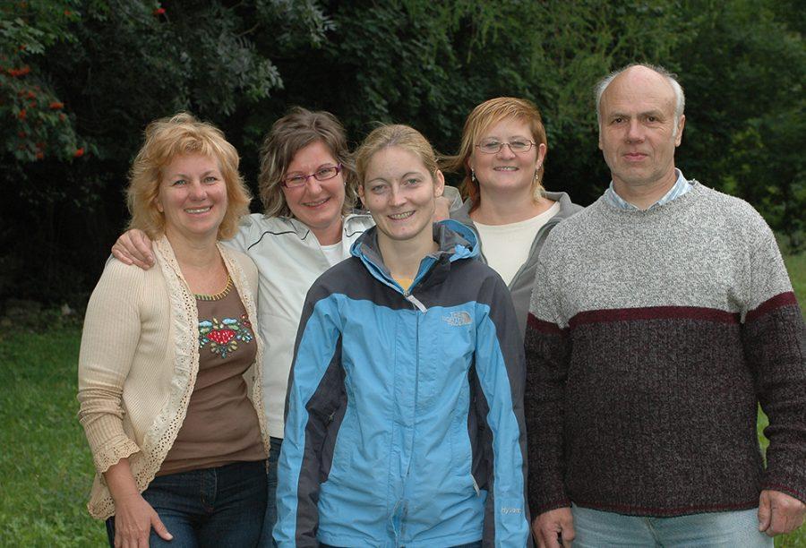 Das Team: Melitta Mittermayer, Lisa Krabichler, Doris Falbesoner, Birgit Zimmermann, Walter Hairer
