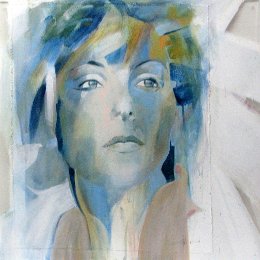Venezianische Farben, 60 x 60 cm, Mischtechnik auf Plexiglas, 2005