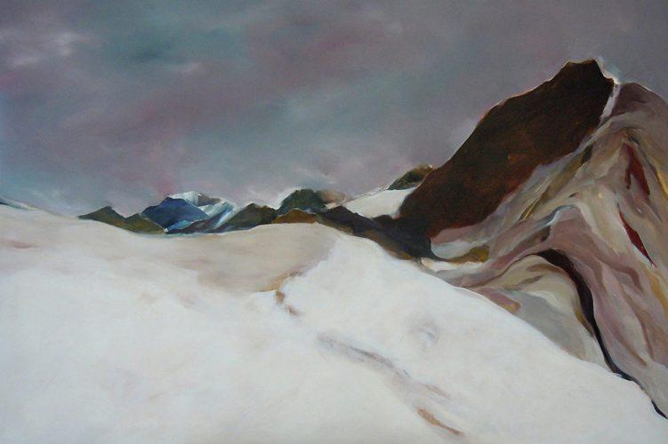Weißkogel, 80 x 120, Acryl auf Leinen, 2016
