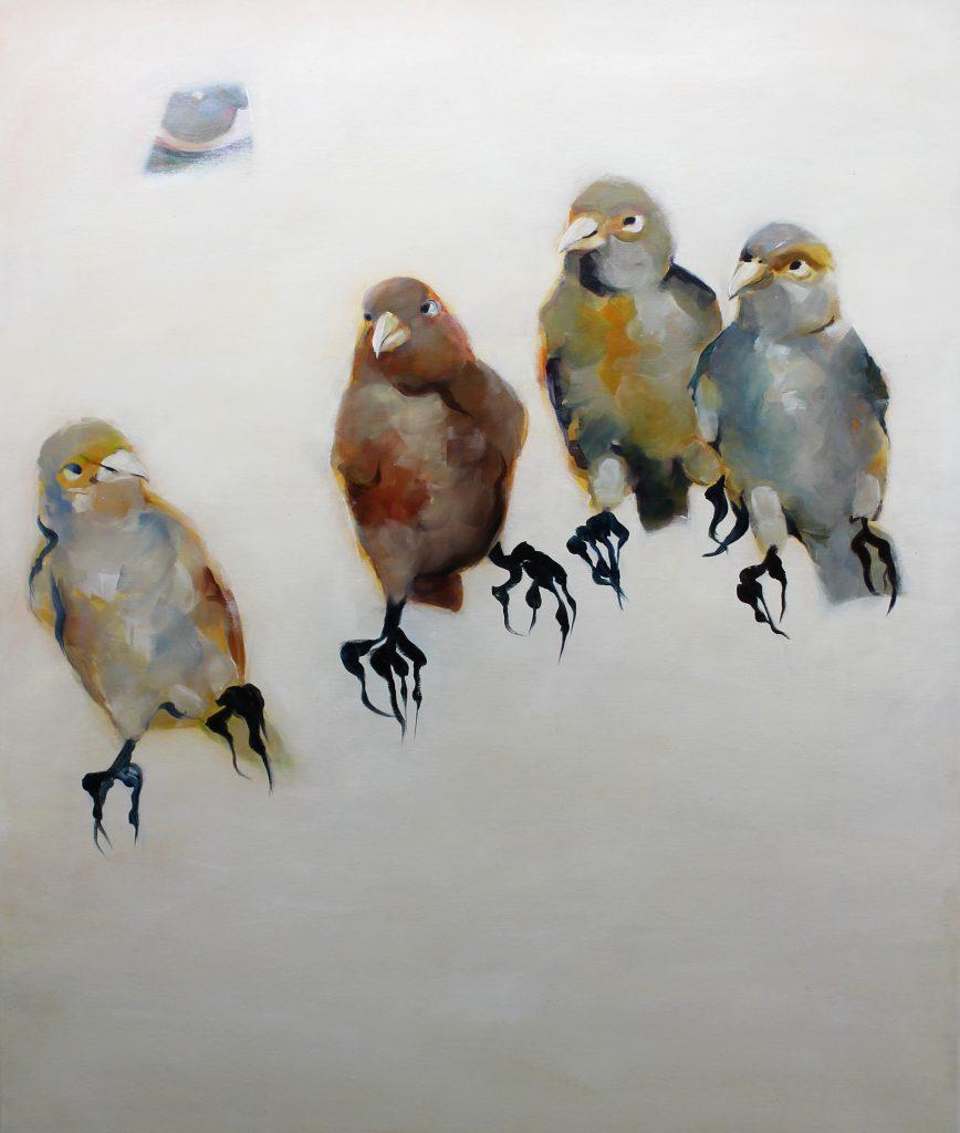 Familie, 100 x 80 cm, Acryl auf Leinen, 2008