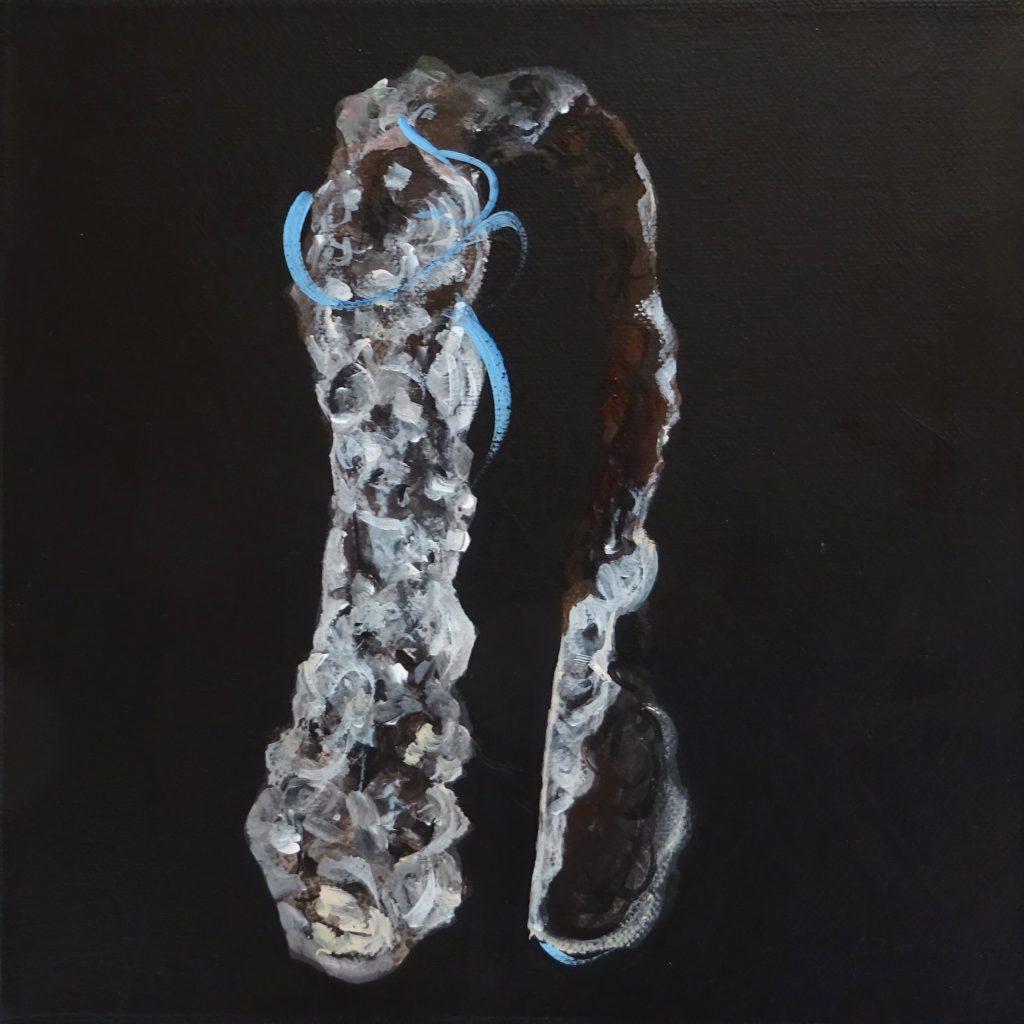 Im Schleier, 20 x 20 cm, Acryl auf Leinen, 2018