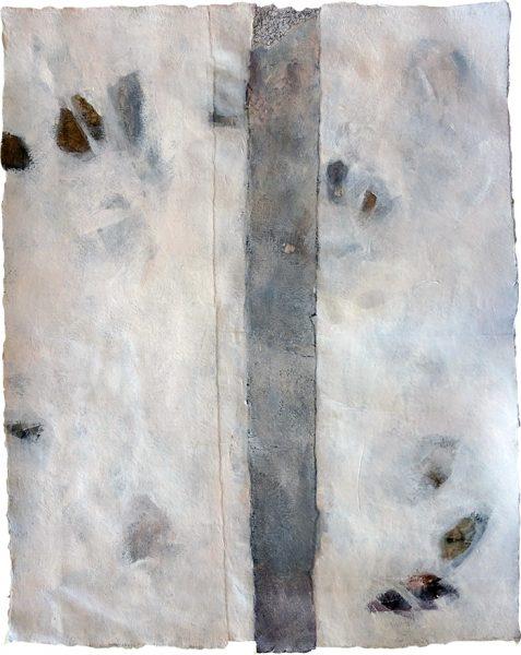 Palimpsest final, 56 x 46 cm, Acryl auf Büttenpapier, 2018