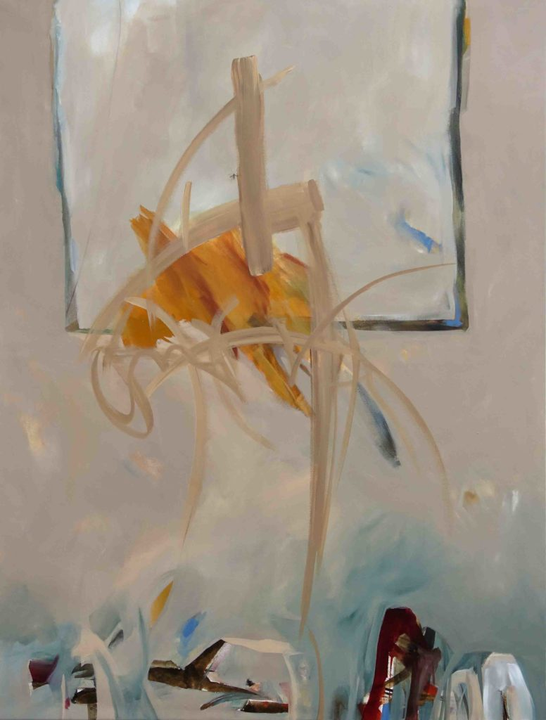 Free mind II, 165 x125 cm, Mischtechnik auf Leinen, 2019