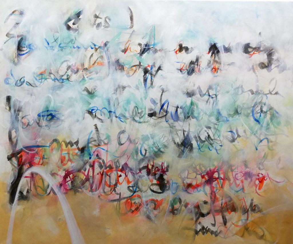 (Form) / Inhalt, 100 x 120 cm, Acryl auf Leinen, 2019