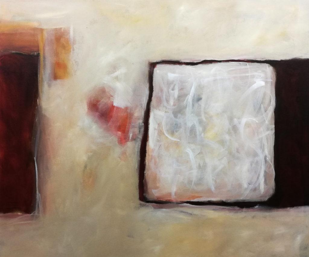 Form / (Inhalt), 100 x 120 cm, Acryl auf Leinen, 2019