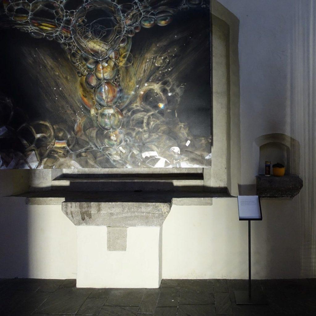 Susanne Kircher-Liner, Malerei, Michaelskapelle (mit Josef Müller, Klangobjekte)
