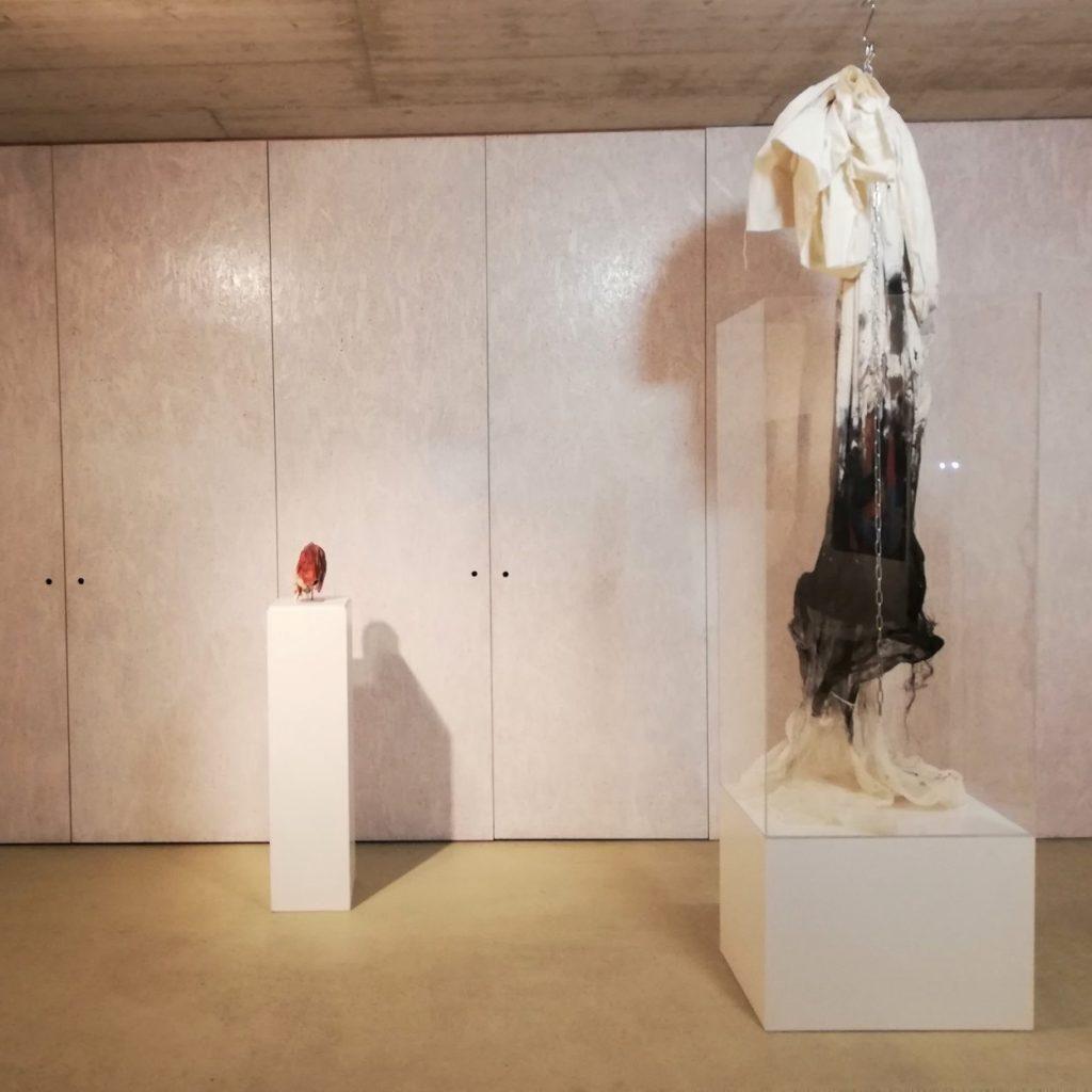 Petra Höcker, Installation, Kunstraum Pfarrgasse 7 (mit Ype Limburg, Camera Obscura Fotografie, Helga Madera, Malerei, Hannes Metnitzer, Glasobjekte)