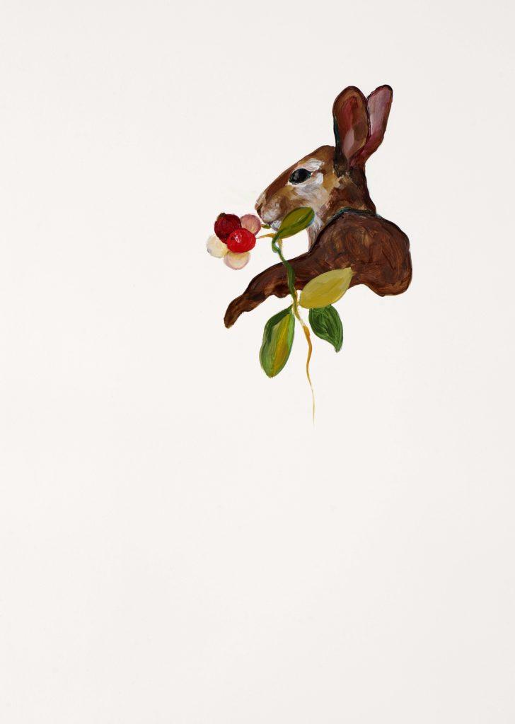 Tannenhof | Gustav Jantschers Welt 15/17, 25,6 x 18,2 cm, Acryl auf Papier, 2020.