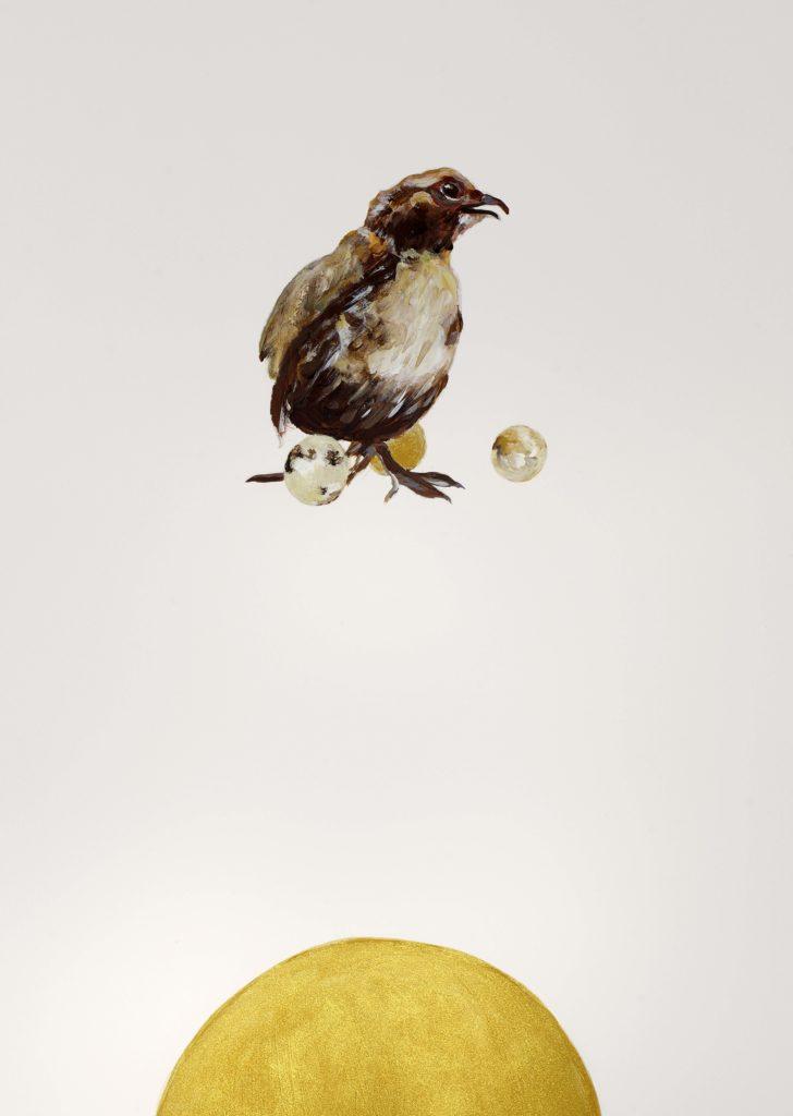 Tannenhof | Gustav Jantschers Welt 6/17, 25,6 x 18,2 cm, Mischtechnik auf Papier, 2020.