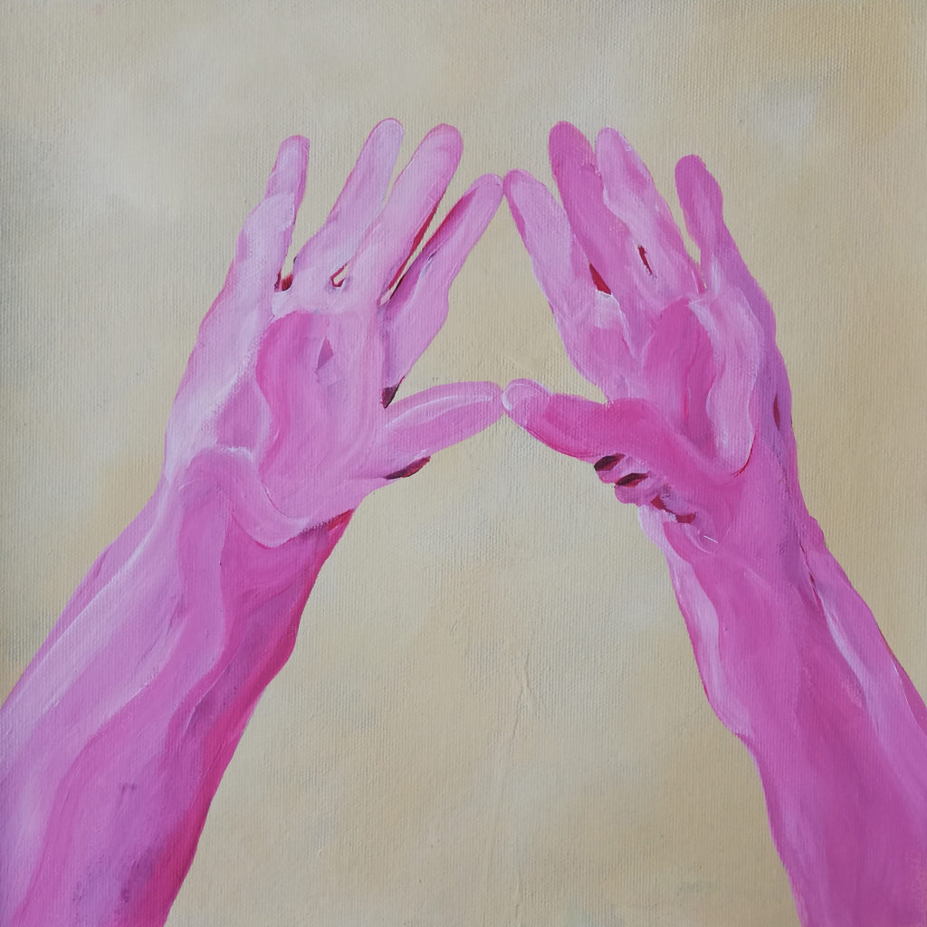 2020, 30 x 30 cm, Acryl auf Leinen, 2020