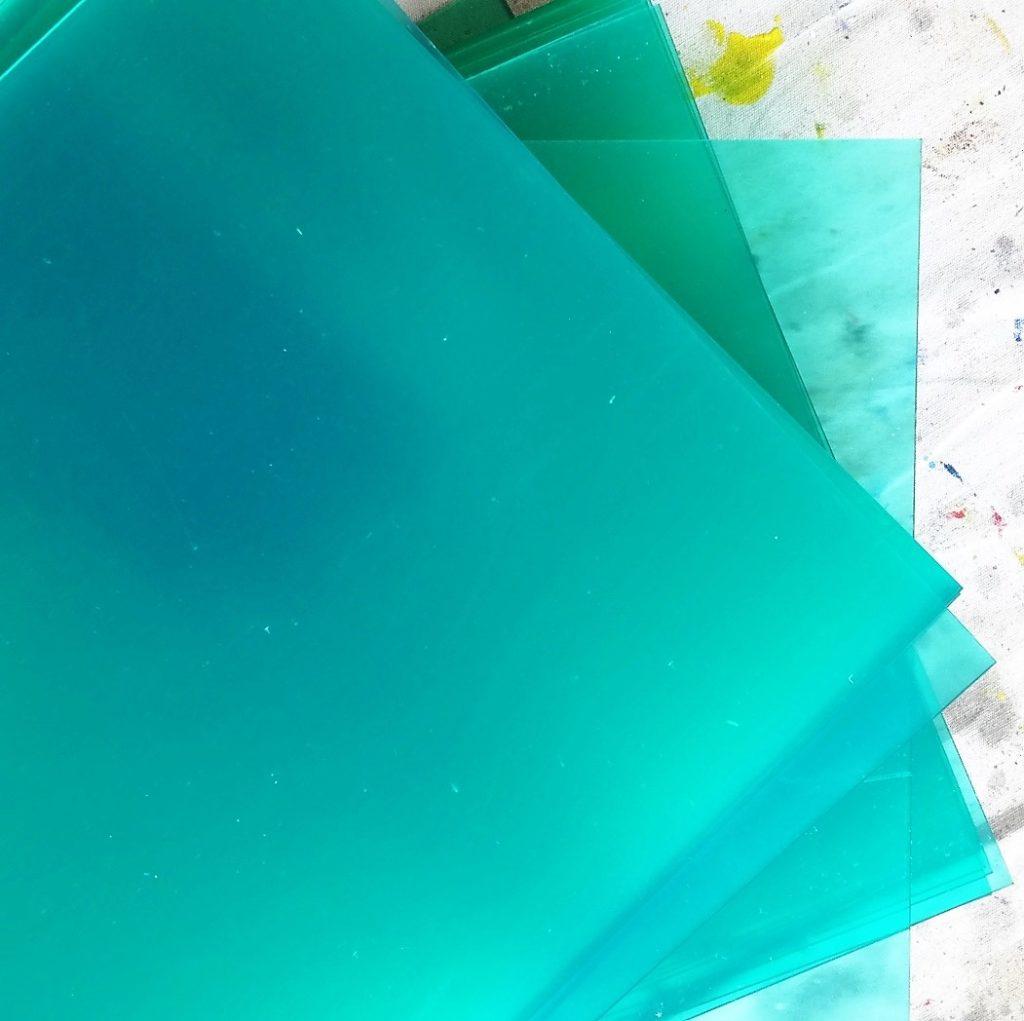 Grundmaterial, Plexiglas 30 x 30 x 0,3 cm, 460 Stück