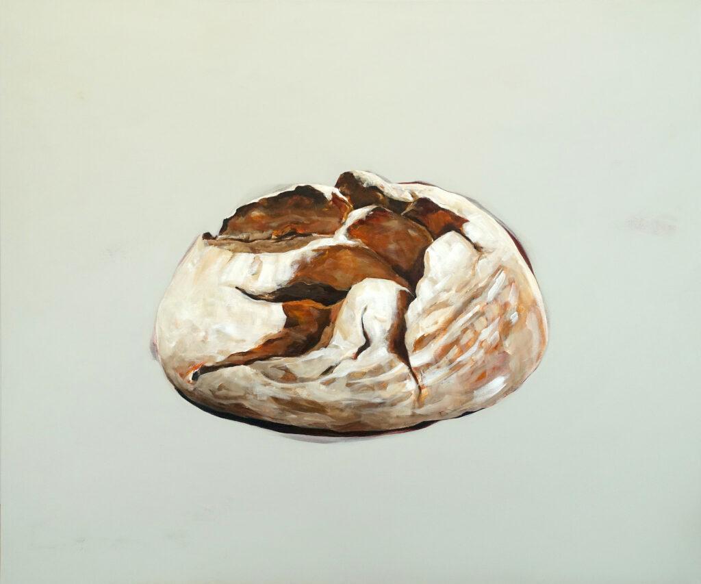 Hunger nach Leben, 100 x 120 cm, Acryl auf Leinen, 2021.