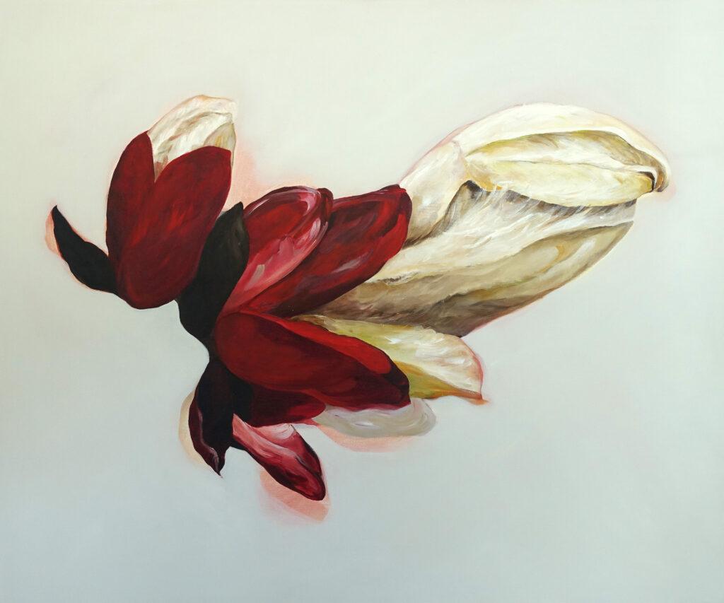 White Chestnut   Neubeginn, 100 x 120 cm, Acryl auf Leinen, 2021.