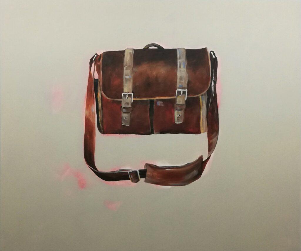inside – out (Das Glück is a Vogerl), inside, 100 x 120 cm, Acryl auf Leinen, 2021.